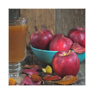 Autumn apple cider and apples canvas print