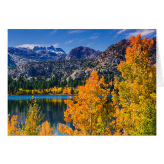Autumn around June Lake, California Card