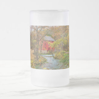 Autumn At Alley Mill Frosted Glass Beer Mug