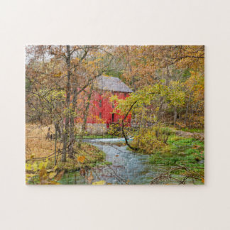 Autumn At Alley Mill Jigsaw Puzzle