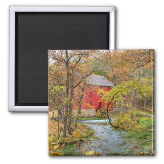 Autumn At Alley Mill Square Magnet