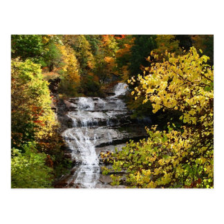 Autumn at Buttermilk Falls Postcard