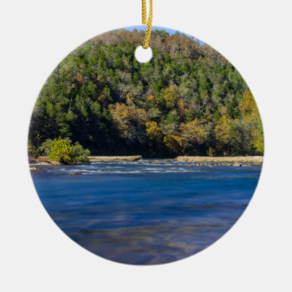 Autumn At North Fork Ceramic Ornament