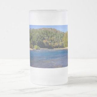 Autumn At North Fork Frosted Glass Beer Mug