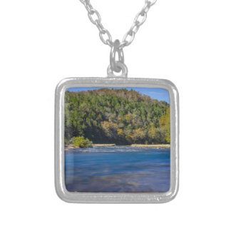 Autumn At North Fork Silver Plated Necklace