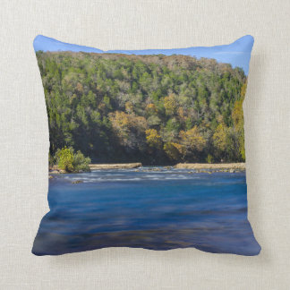 Autumn At North Fork Throw Pillow