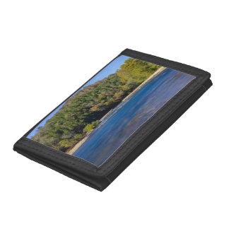 Autumn At North Fork Trifold Wallet