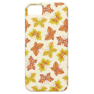 Autumn atmosphere with butterfly-shaped leaves iPhone 5 case