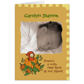 Autumn Baby Birth Announcement (boy or girl)