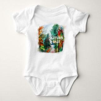 Autumn Baby Jersey Bodysuit, White Baby Bodysuit