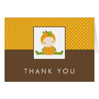 Autumn Baby Shower Thank You Notes