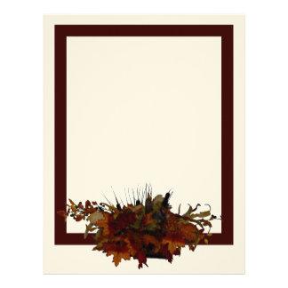 Autumn Basket Stationery Customized Letterhead