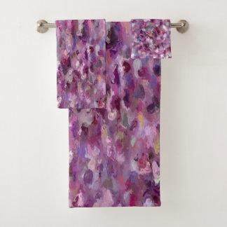 Autumn Berries Paint Splashes 9887 Bath Towel Set
