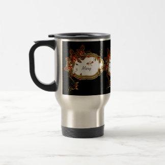 Autumn Berry Framed 15 Oz Stainless Steel Travel Mug