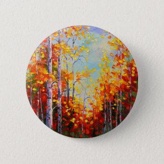 Autumn birches 2 inch round button