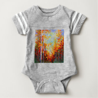 Autumn birches baby bodysuit
