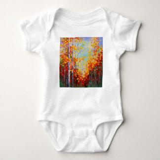 Autumn birches baby bodysuit