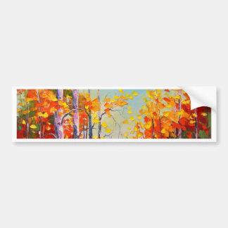 Autumn birches bumper sticker