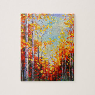 Autumn birches jigsaw puzzle