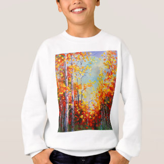 Autumn birches sweatshirt