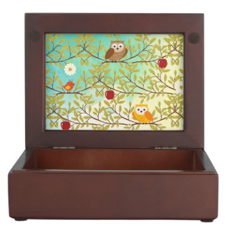 Autumn birds keepsake box