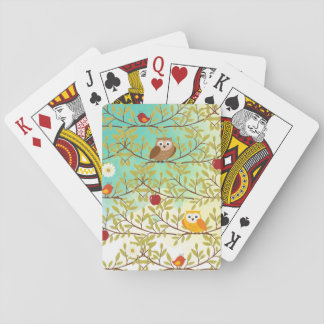 Autumn birds poker deck