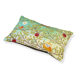 Autumn birds small dog bed