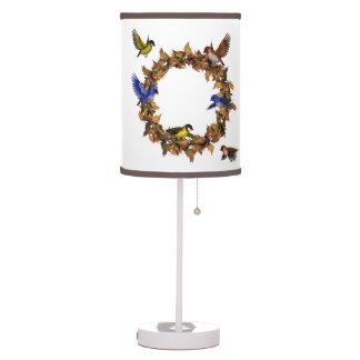 Autumn Birds Table Lamp
