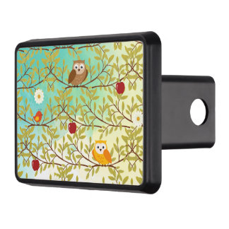 Autumn birds trailer hitch cover