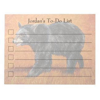 Autumn Black Bear Notepad