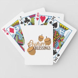 Autumn Blessings Poker Deck