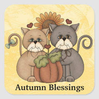 Autumn Blessings sticker