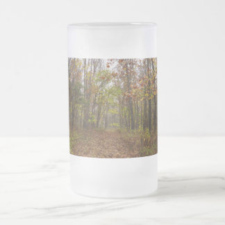 Autumn Bliss Frosted Glass Beer Mug