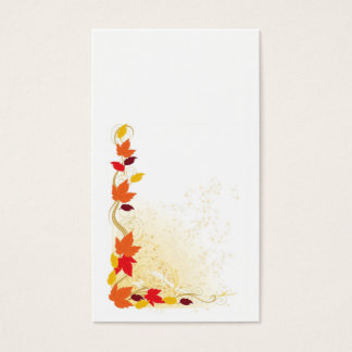 Autumn Border Business Card