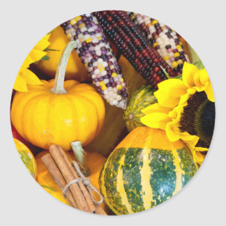Autumn Bounty Classic Round Sticker