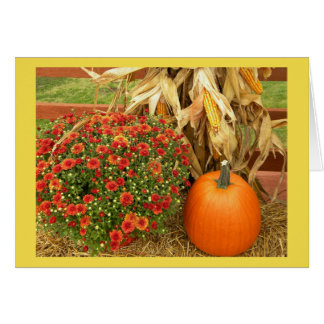 Autumn Bounty Thanksgiving Card