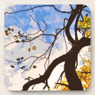 Autumn Branches Abstract Coasters
