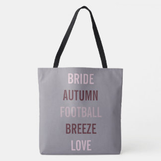 Autumn Bride Love Fall Tailgate Party Tote Bag
