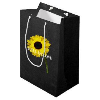 Autumn Bride Sunflower Wedding Party Gift Bag