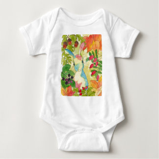 Autumn Bunny by Peppermint Art Baby Bodysuit