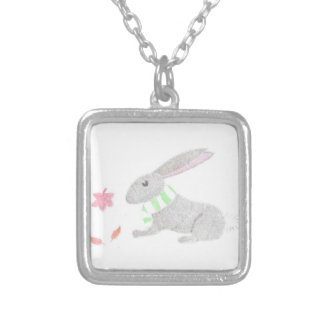 Autumn Bunny Silver Plated Necklace