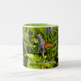 Autumn Butterfly Nature Botanical Two-Tone Coffee Mug