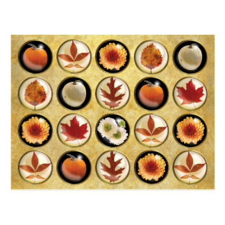 Autumn Buttons Pattern Postcard