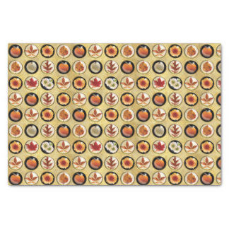 Autumn Buttons Pattern Tissue Paper