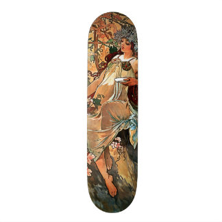 Autumn by Alfons Mucha 1896 Skateboard Decks