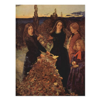 Autumn by John Everett Millais Postcard