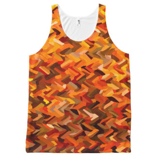 Autumn Camouflage All-Over-Print Tank Top