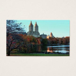 Autumn: Central Park Lake, San Remo Business Card