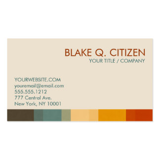 Autumn Chic Colors Business Card