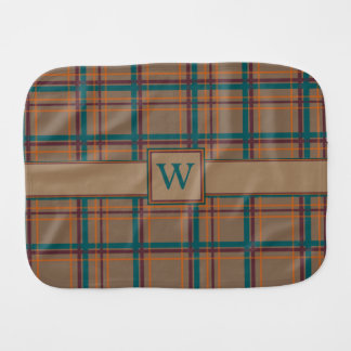 Autumn Chic Plaid Burp Cloth